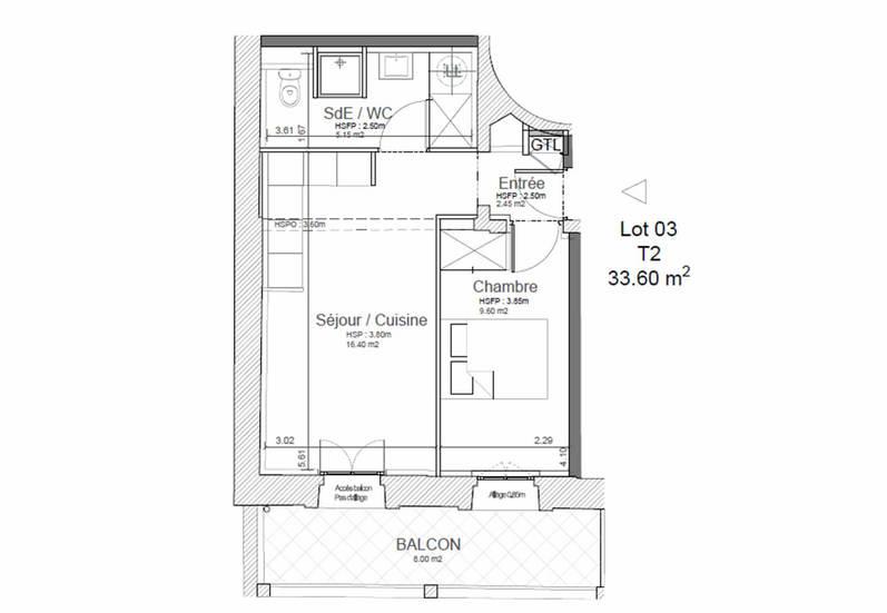 Homki - Vente appartement  de 34.0 m² à Montpellier 34000